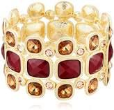 "T Tahari Roman Holiday"" Bright Brown Stretch Bracelet"