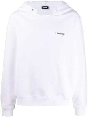 we11done Branded Long-Sleeved Hoodie