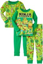 Nickelodeon Ninja Turtles 4-Piece PJ Set (Toddler) - Green-2T