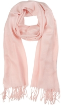 Mila Schon Light Pink Wool and Cashmere Stole