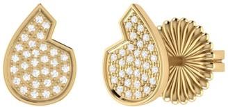 Lmj Street Cycle Stud Earrings In 14 Kt Yellow Gold Vermeil On Sterling Silver