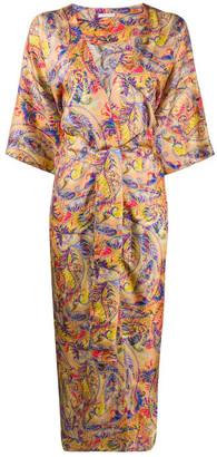 813 Printed Silk Kimono