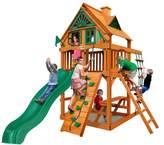 Gorilla Playsets Chateau Tower Treehouse Swing Set