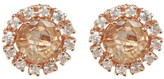 Suzanne Kalan 14K Rose Gold Circle Topaz & Sapphire Stud Earrings