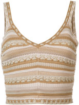 Alice + Olivia Alice+Olivia - fitted vest top - women - Cotton/Polyester - XS
