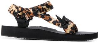Arizona Love Leopard strap sandals