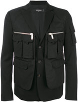 DSQUARED2 multi-pocket blazer - men - Spandex/Elastane/Virgin Wool - 46