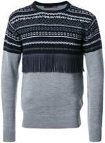 Yoshio Kubo fringe detail embroidered sweater