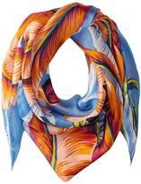 Echo Palm Silk Triangle Scarf Scarves