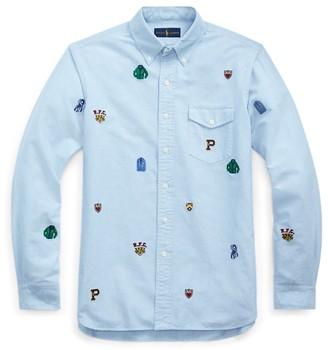 Ralph Lauren Custom Fit Embroidered Shirt