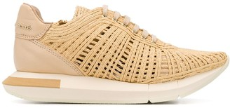 Manuel Barceló Raffia Low Top Sneakers