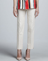 Lafayette 148 New York Astor Slim Cropped Pants