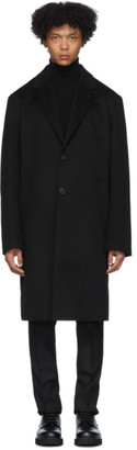 MACKINTOSH Black Rain System Wool Stanley Coat