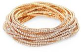 ABS by Allen Schwartz Out Last Night Pave Crystal Stretch Bracelets/Set of 20