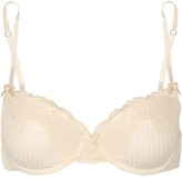 Elle Macpherson Intimates Big Wave stretch-cotton and lace underwired contour bra