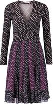 Diane von Furstenberg Caprice wrap-effect printed silk-jersey and silk-crepe mini dress