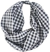 A Common Thread Common Thread Little Girls' Infinity Scar - Black and White Gingham
