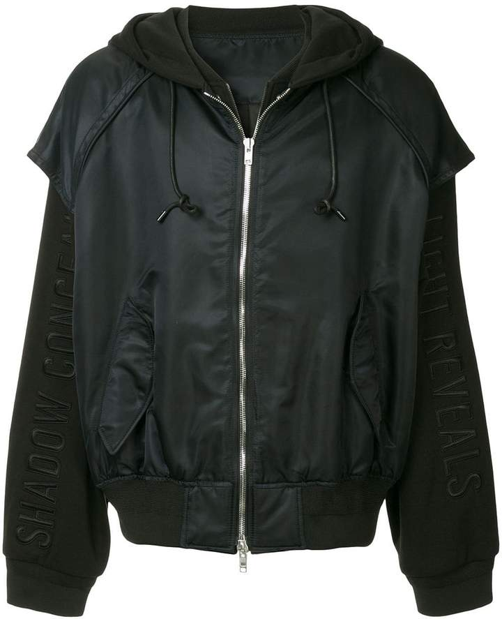 0e0d1b2f8 layered hooded bomber jacket