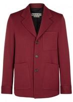 Marni Cranberry Wool Twill Blazer