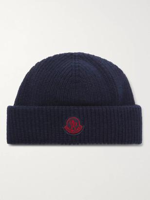MONCLER GENIUS Logo-Appliqued Virgin Wool Beanie