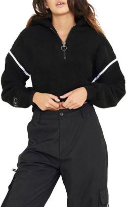 nANA jUDY Blair Sherpa Half-Zip Sweater
