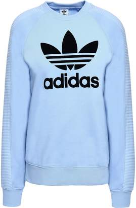 adidas Flocked French Cotton-terry Sweatshirt