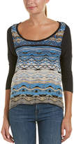 Tolani High-Low Silk-Blend Top