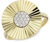 Aura Large 14K Yellow Gold & Diamond Pave Ring