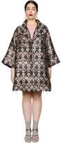 Marina Rinaldi Lurex Jacquard Coat