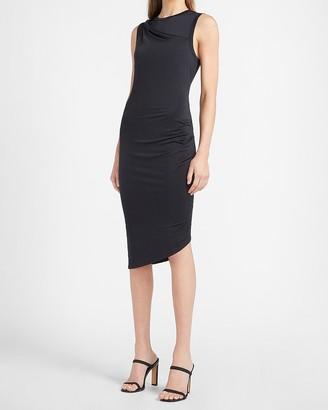 Express Twist Shoulder Sheath Dress