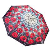 Galleria Stainglass Poppies Umbrella