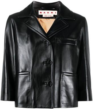 Marni Cropped Sleeve Blazer Jacket