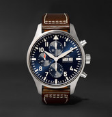 IWC SCHAFFHAUSEN Pilot's Le Petit Prince Edition Chronograph 43mm Stainless Steel and Leather Watch