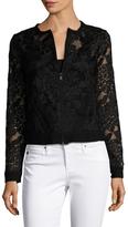 Three Dots Lace Zip Up Jacket