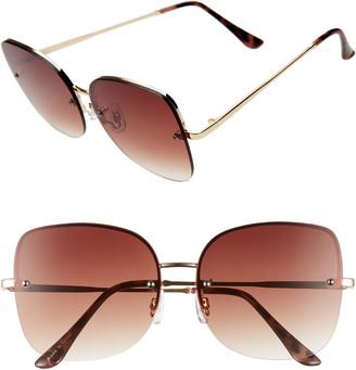 BP 60mm Rimless Square Sunglasses