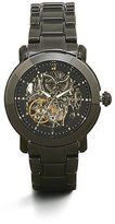Kenneth Cole Black Skeleton Automatic Ceramic Link Watch