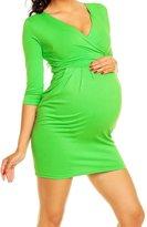 Happy Mama Boutique Happy Mama. Women's Maternity Jersey Tulip Dress Easy Breastfeeding 236p (