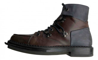 Alexander McQueen Brown Leather Boots