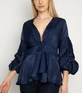 New Look Miss Attire V Neck Puff Sleeve Top