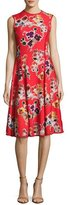 Jason Wu Floral-Print Sleeveless Dress, Red