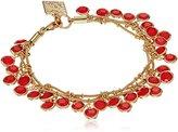 Anne Klein Gold-Tone Coral Three Row Shaky Bracelet