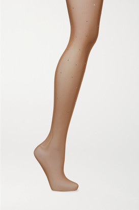 Falke Dazzle Crystal-embellished Tights - Beige