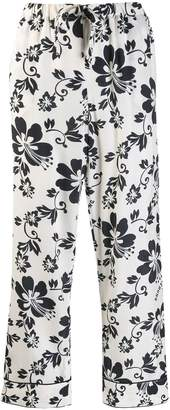 ALEXACHUNG Alexa Chung floral print cropped trousers