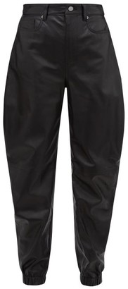 ATTICO The Cavalier Cut Leather Trousers - Womens - Black