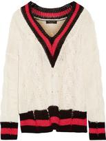 Rag & Bone Emma Oversized Striped Cable-knit Cotton-blend Sweater - Cream