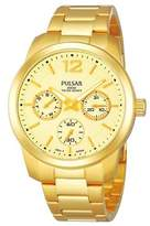 Pulsar PP6060 36mm Plated Stainless Steel Case Plated Stainless Steel Mineral Women's Watch