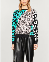Ted Baker Naylaa leopard-print woven jumper