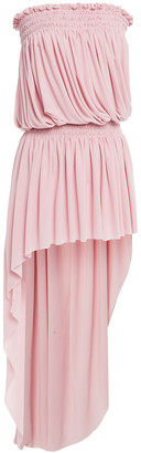 Norma Kamali Strapless Asymmetric Stretch-jersey Dress