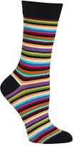 Hot Sox Women's Thin Multi Stripe Trouser Sock