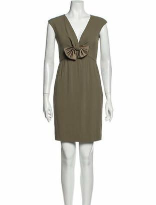 Valentino V-Neck Mini Dress